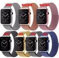 Yifalian para apple watch band 42mm milanese laço cinta banda ligação pulseira de aço inoxidável para a apple iwatch 42mm 38mm preto