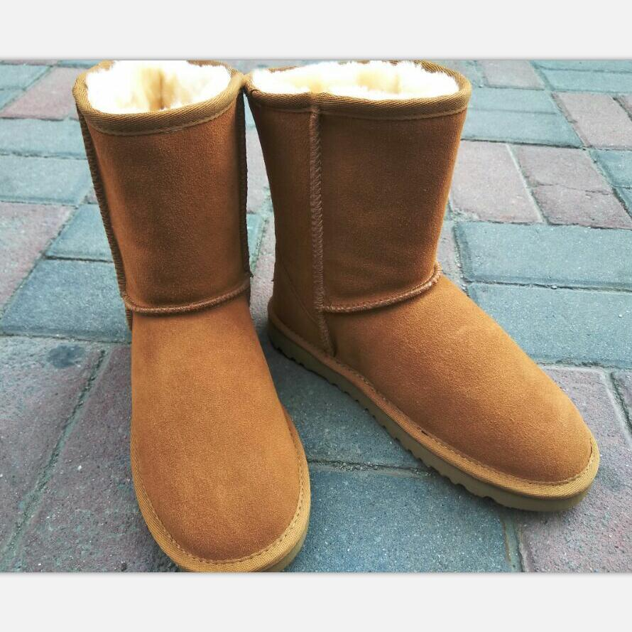 NEW 2017 Winter Warm Snow Boots Leather Slip Waterproof Ug Australia Boots Women You Deserve It  Size 34-44 Snow Boots Women 2017 sales of the most popular hot winter boots women ug australia boots women slip warm women s boots in the snow size 34 44