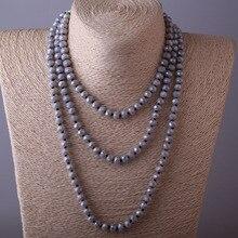 long Halsband Gary Crystal Bead Necklace