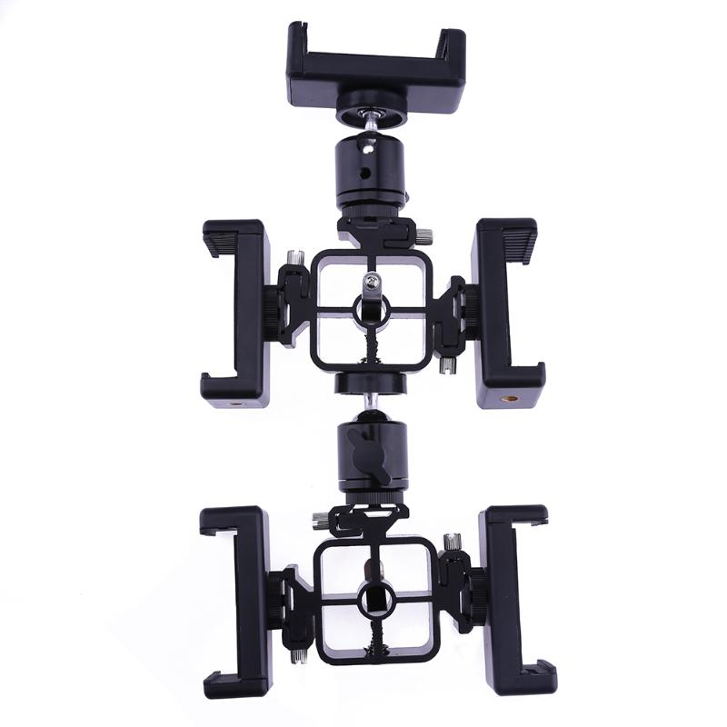 360 Degree Rotatable Universal Five Edge Stents Stand Mount Bracket Rack for Smartphome Live Broadcast