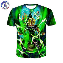 Dragon Ball Z camisetas Hombre 3D Camiseta Super Saiya Son Goku Camisetas estampadas con Brolly camisetas Hombre Casual camiseta de manga corta(China)