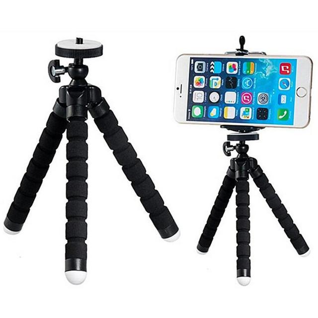 Mini Portable Flexible Sponge Octopus Tripod Bracket Stand Mount Monopod + Phone Holder For Gopro Camera DSLR Mount