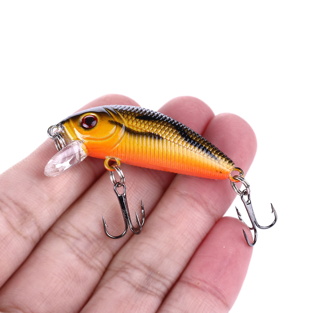 HENGJIA Minnow Fishing Lures 5cm 3.6g Floating Isca Japan Hard Bait Bass Topwater Pesca Wobblers Crankbait Fishing Tackle image