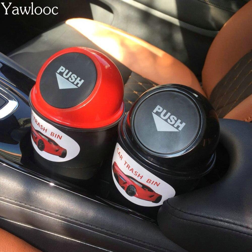 Yawlooc Hot selling Car Garbage Can Car Trash Can Garbage Dust Case Holder Bin Car-styling