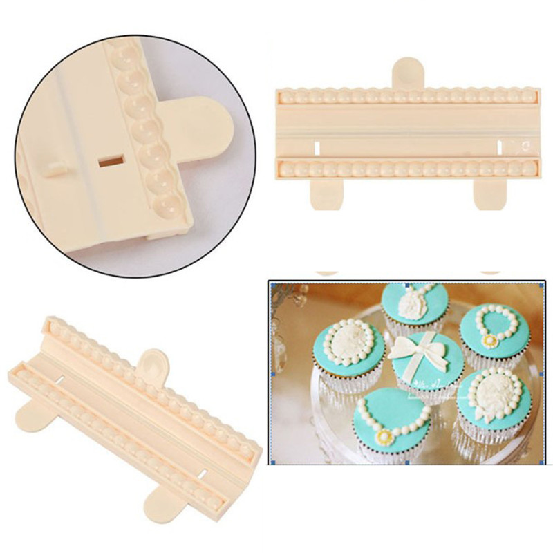 SEAAN Lovely Pearl Bead Chain Silicone Fondant Mould Cake Chocolate Sugar Craft Decorating Baking Mold Bead Cutter Cake Decor in Baking Pastry Tools from Home Garden
