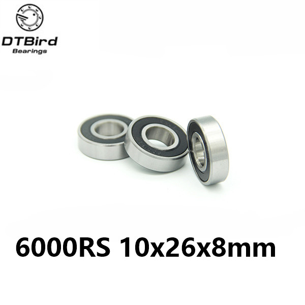 6000-2RS 10x26 x8 mm Hybrid Ceramic deep groove ball bearing 6000 2RS 6000RS 10*26*8mm for bike part bicycle Bearing 6000 2rs sealed deep groove ball bearing 10mm inner dia black silver tone