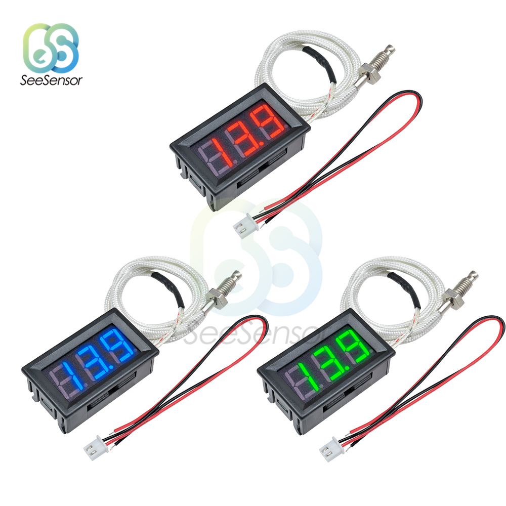 XH-B310 B310 LED Digital Thermometer 12V Temperatur Meter K-typ M6 Thermoelement Tester-30 ~ 800C