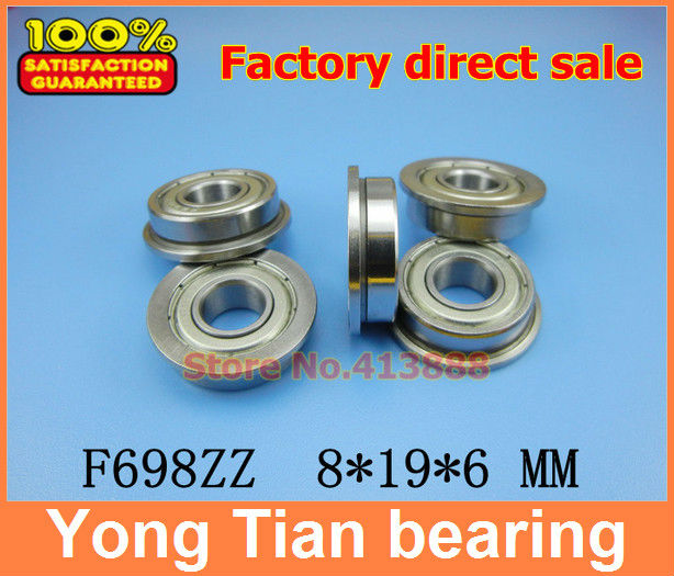 10pcs F698ZZ F698 DDRF-1980ZZ F698-2RS deep groove <font><b>ball</b></font> <font><b>bearing</b></font> 8*19*22*6*<font><b>1.5mm</b></font> miniature <font><b>bearing</b></font> with flange image