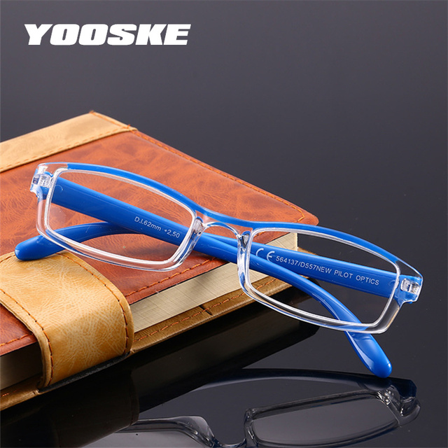 YOOSKE Small Reading Glasses Women Resin Clear Lens Presbyopic Eyeglasses Men Hyperopia Spectacle Diopter +1.5 +2.0 +2.5 +3.0