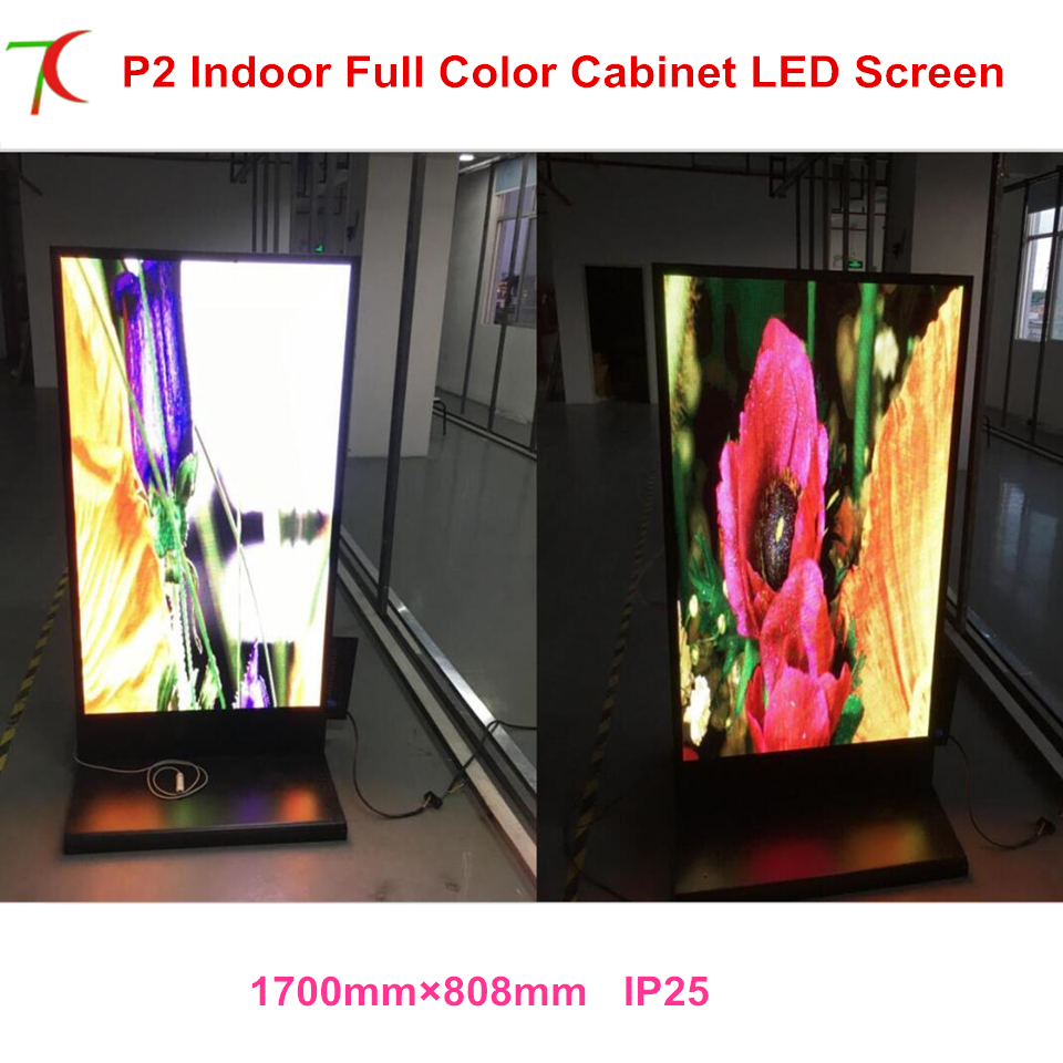 Customized Indoor Vertical Led Full Color Advertisement Machine Cabinet Poster Led Display