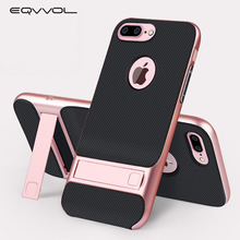 Eqvvol Kickstand Case For iPhone X 8 7 Plus Magnetic Holder Phone Cases TPU+PC 360 Degree Rack Stand Cover For iPhone 6 6s Plus