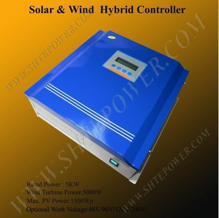 Advanced 5000w 120v 240v pv wind controller for 5kw wind turbine jungle food