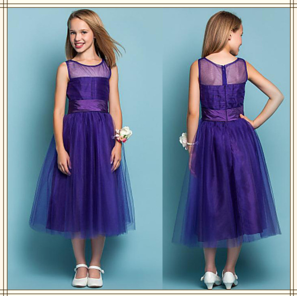 Amazing Girls Bridesmaid Dresses Purple Image Collection - All ...