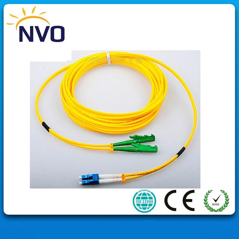 5Meter 2.0mm PVC Jacket SM DX E2000/APC-LC/UPC Fiber Optic Patch Cord/Fiber Jumper