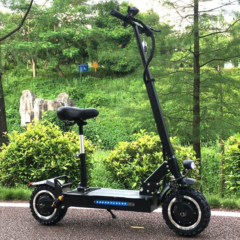 FLJ adulte Scooter électrique avec moteurs 60 V/3200 W puissant coup de pied Scooter gros pneu pliable électrique scooters adultes