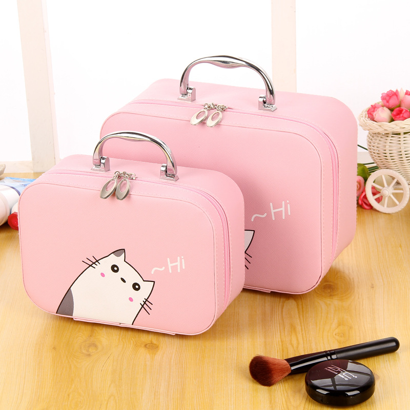 Makeup Brushes Tool Storage Box Cosmetic Bag Portable Cute Small Cosmetics Case
