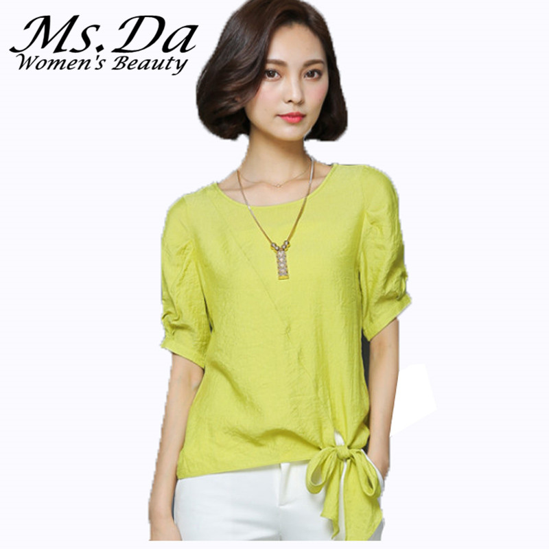Summer Chiffon blouses 2016 short sleeve women casual blouses vintage  shirts tops tunics Chemise Femme Yellow - Popular Yellow Orange Shirt-Buy Cheap Yellow Orange Shirt Lots