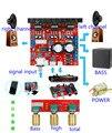 TDA2030A computer mega bass power amplifier plate 2.1 3 track  subwoofer audio power amplifier board