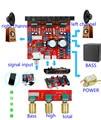 Diy kit de placa del amplificador de potencia TDA2030A ordenador mega bass 2.1 3 pista de audio subwoofer tablero del amplificador de potencia