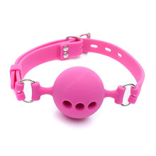 38mm/43mm/48mm Full Silicone Open Mouth Ball Gag in Adult Game Bondage Restraints Sex Products BDSM Erotic Toy Couple Sex Toys