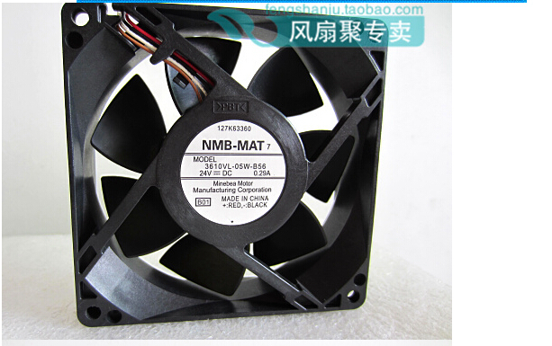 New original NMB 9cm 9225 24V 0.29A 3610VL-05W-B56 92*92*25MM inverter fan four nmb new and original fba09a12m 9025 9cm 12v 0 2a chassis silent cooling fan 90 90 25mm