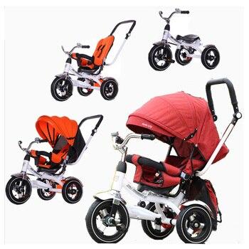 ccfa51354 3 en 1 cochecito de bebé, triciclo, bicicleta, puede sentarse, cochecito de  bebé, asiento ajustable Trike, silla de cochecito para niños