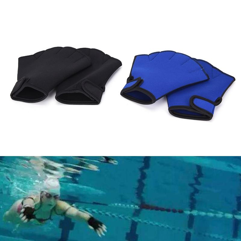 1 Pair Water Swim Gloves Aerobics Aqua Jogger Swimming Hand Webbed Swim Surfing Diving Webbed Neoprene Paddle Gloves
