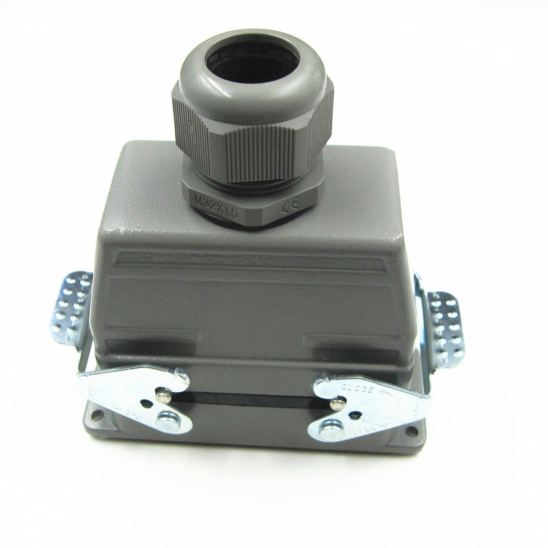 HDC-HD-040-M/F Heavy Load Connector 40 Core Rectangle Plug Socket Cold Pressure Pin Type heavy duty connectors hdc hee 018 1 f m 18pin 16a industrial rectangular aviation connector plug