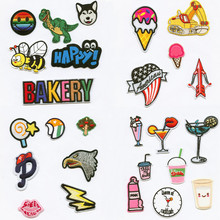 hot deal buy fashion cartoon bottle patchwork patch embroidered patches for clothing iron-on for close shoes bags badges embroidery