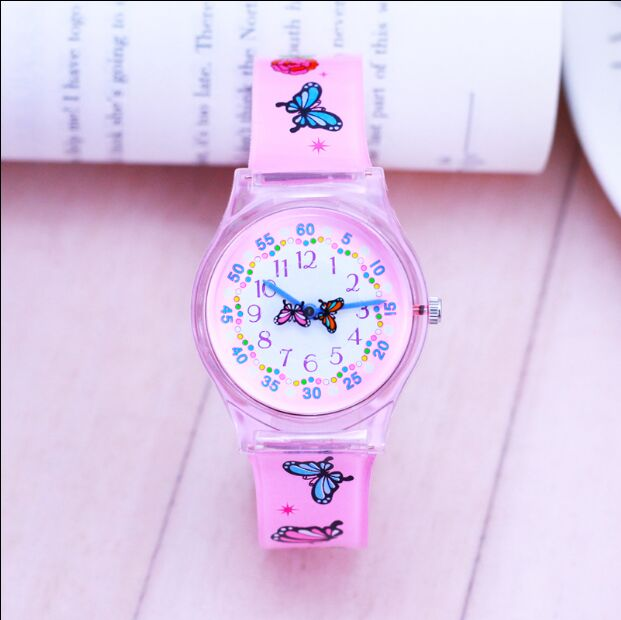 NEW Latest Styles Fashion Girls Watches Silicone Wristwatch Mixed Colors Lover's Watches Women Sport Plastic Clock Kids Watch