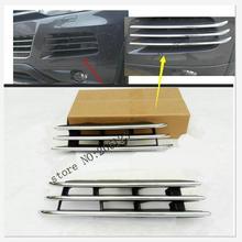 Автомобильный Стайлинг, автомобильный передний бампер, нижняя решетка, крышка гоночного гриля, наклейка из нержавеющей стали для VW Volkswagen 2011- Touareg
