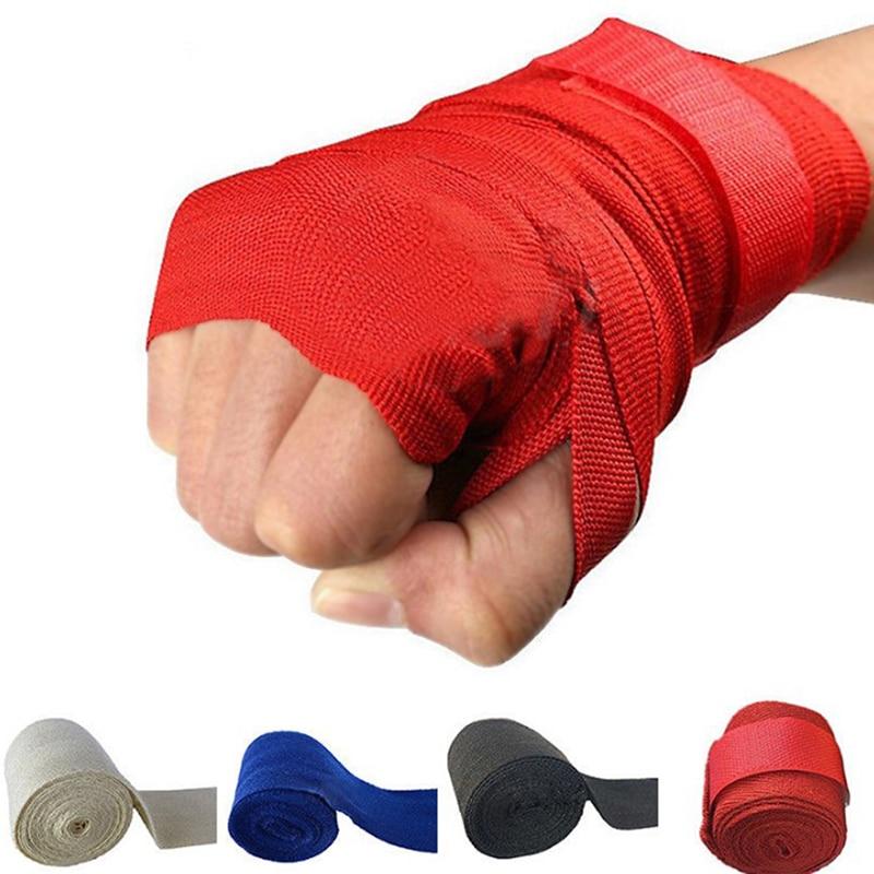 2.5m Kickboxing Bandage Elastic Professional Boxing Muay Hand Wraps Wristband
