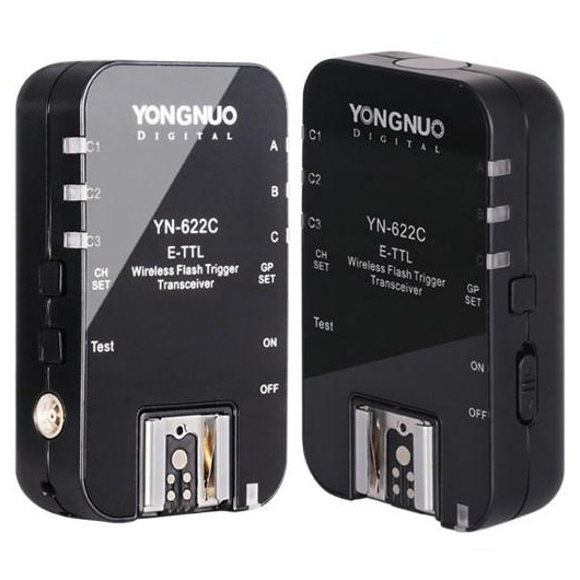 Yongnuo YN 622C, YN-622C Wireless ETTL HSS 1/8000S Flash Trigger 2 Transceivers for Canon 1100D 1000D 650D 600D 550D 7D 5DII 50D yongnuo yn 568ex ii for canon master hss ettl flash speedlite for 5diii 5dii 5d 7d 60d 50d 650d 600d 550d 12 pcs color cards