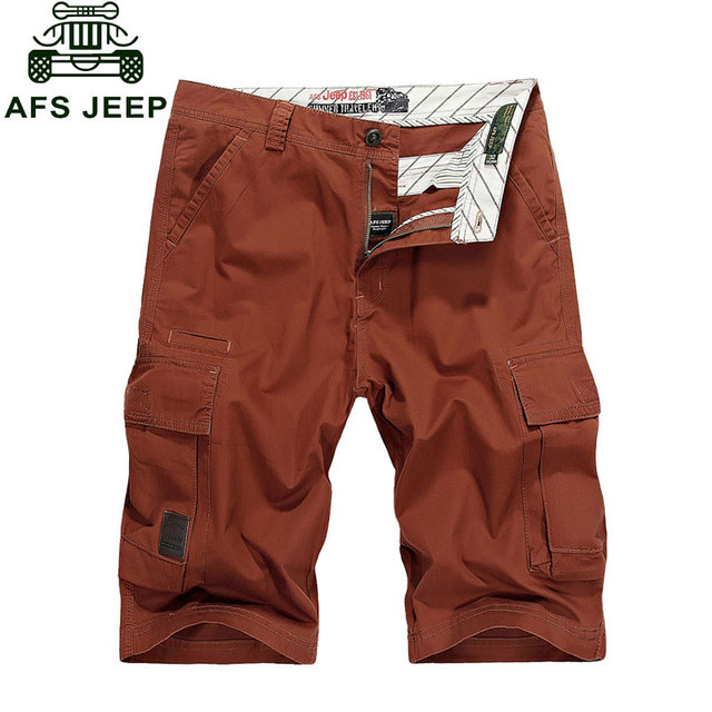 2017 New Summer Breathable Yellow Red Casual Man's Cotton Shorts Cargo Large Fashion Beach Army Plus Size Brand CLOTHES 30~44