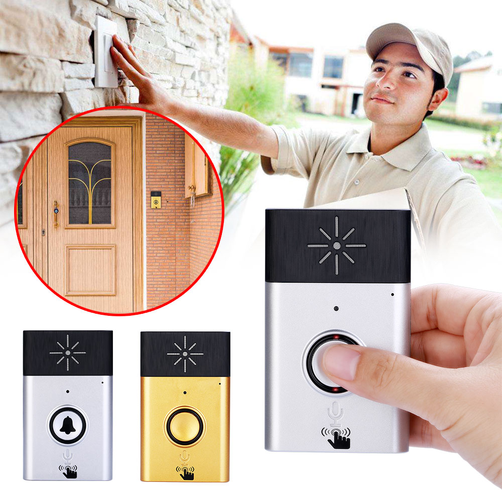 Door Chime Speaker Office Generic Wireless Doorbell 5V 1A Factory Wireless Voice Doorbell Two Way Voice Intercom 300M Outdoor