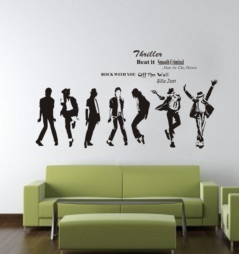 michael jackson removable living room wall decor vinyl decal sticker