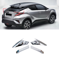 2016 2017 For Toyota C HR Exterior Rear Tail Light Lamp Eyelid Cover Decor Trim ABS