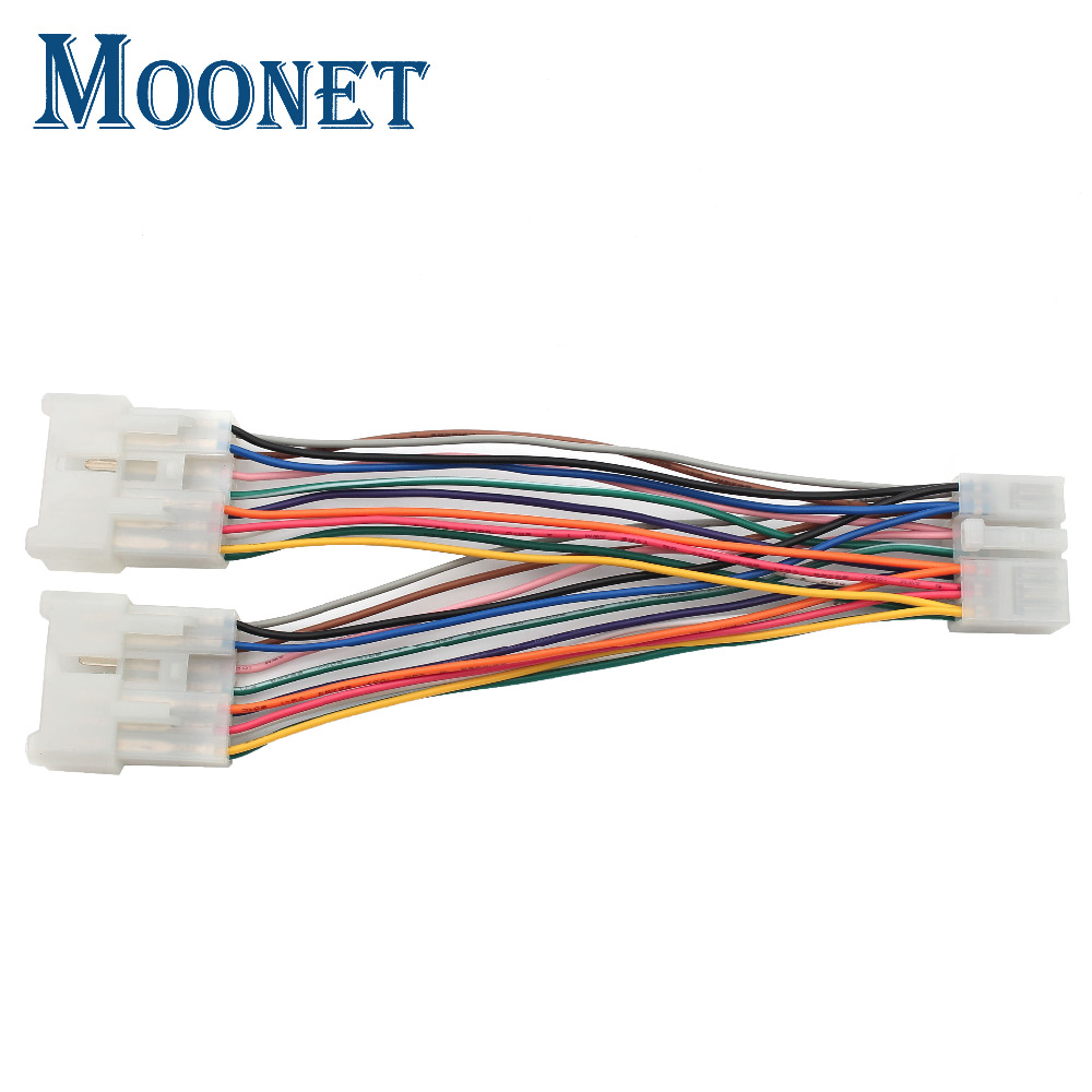Moonet (5+7) Car CD MP3 Player Splitter/Y cable Retention Y Harness Cable Fit for Toyota (5+7) connector QX995 цена 2017