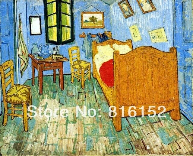 Van Gogh Schlafzimmer Bei Arles Berühmte Abstrakte Kunst Ölgemälde
