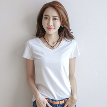 Womens Short Sleeve T-shirt Spring and Summer White Top 2019 New Style