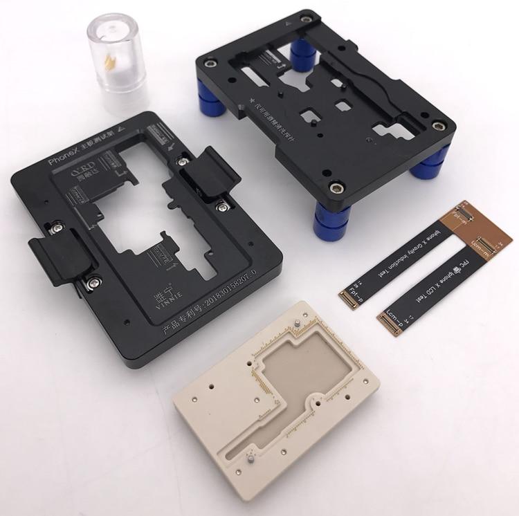 Livraison gratuite outils à main iphoneX couche intermédiaire cadre d'essai brosse machine carte mère test mobile téléphone réparation outil