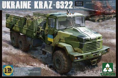 Takom model NO 2022 1/35 Ukraine KrAz-6322 Heavy Truck (Late Type) kraz