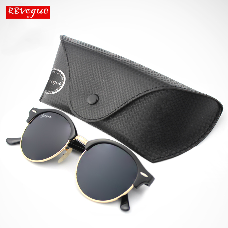 Iconic Silhouette Gold-tone Clubround Sunglasses Women Ultra-clear 51mm Sun Glasses Men Steampunk Goggles With Leather Case 4246