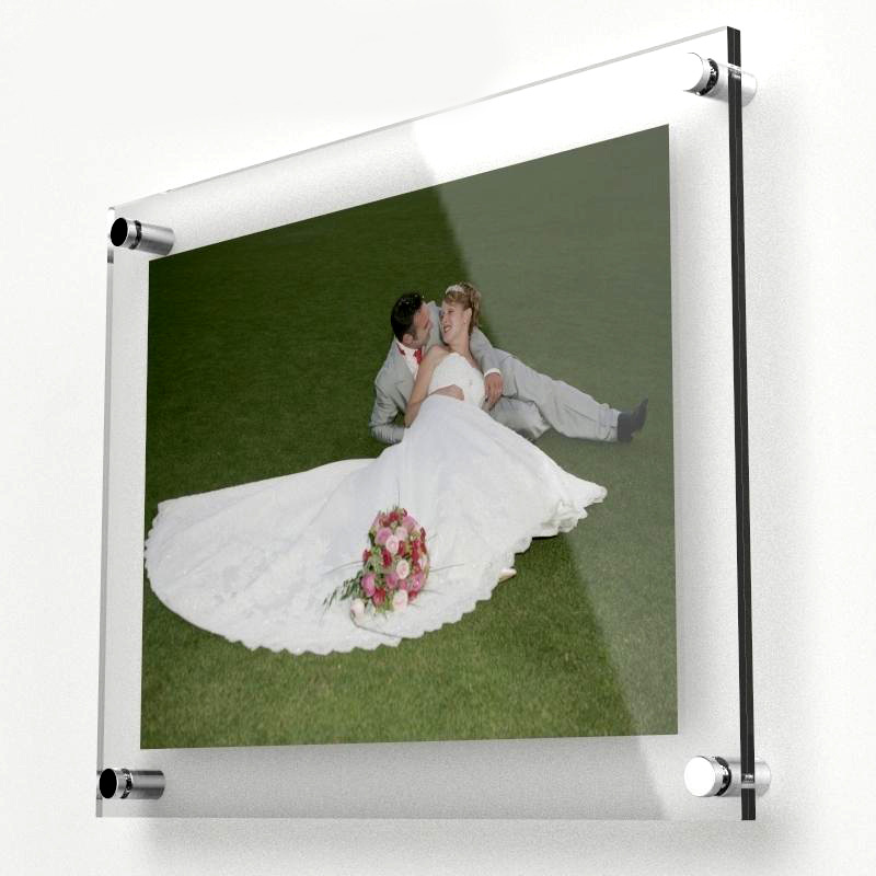 Wall mounted clear picture card frame poster photo holder acrylic ...