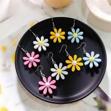 Fashion Daisy Flower Earrings For Women Girls 2019 Summer Sweet Simple Boho Jewelry