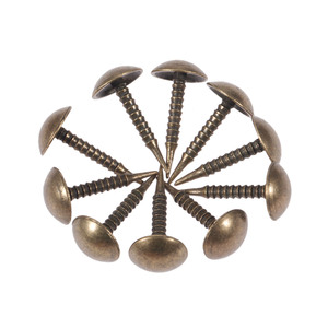 DRELD 100 шт. антикварная латунная обивка ногтей деревянная шкатулка для украшений дивана декоративная заколка для гвоздей фурнитура для ногте...