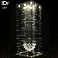 Double staircase hall living room lights Villa high quality chandelier long chandelier LED chandelier Crystal Light