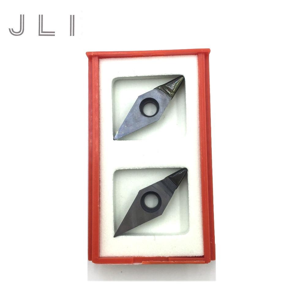JLI 2db / készlet Gyémánt eszterga VCGW160404 PCD vágószerszám CNC penge eszterga-sorozat SVJCR-hez SVVCN SVQCR SVUCR