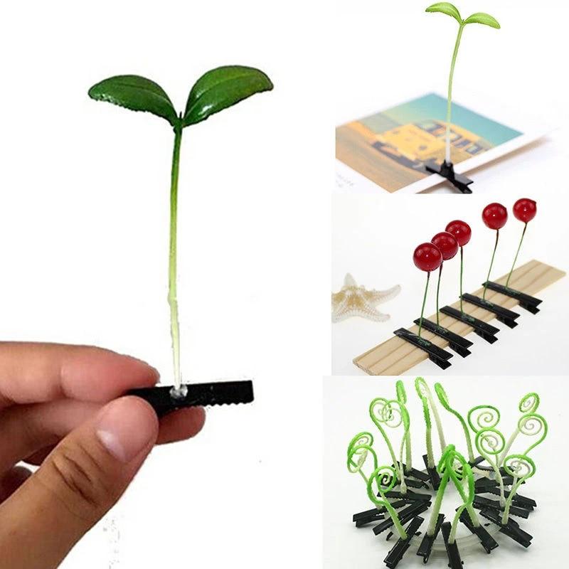 10pcs Hair Clips Cute Little Grass Bean Sprout Headwear Hairpins for Lady Kids