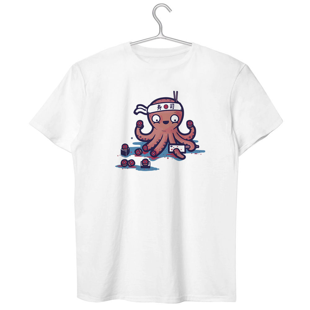 Shirt design octopus - Summer Dress O Neck Tees Sacrifice Myself For Your Sushi T Shirt Design Funny Geek Octopus Cut T Shirt Size S 2xl In T Shirts From Men S Clothing